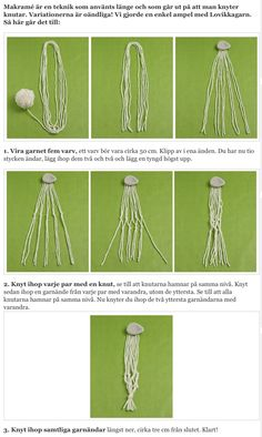 Makrame ampel DIY plant hanger instruction