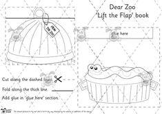 Teacher's Pet - Dear Zoo Lift the Flap Book Templates (BW) - Premium Printable Classroom Activities and Games - EYFS, zoo, animal. Zoo Activities, Classroom Activities, Toddler Activities, Preschool Books, Preschool Themes, Dear Zoo Party, Zoo Party Themes, Teacher's Pet, Play Based Learning