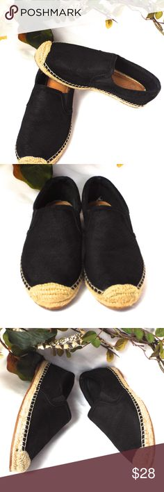Gianni Bini Leather Black Flat Slides Very good condition  Black leather uppers with a subtle reptile design embossed.  Slide on. Gianni Bini Shoes Flats & Loafers