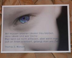 LDS / HLT Postkarte - Thomas S. Monson  Idealen treu bleiben  - 5er Pack