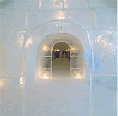 Sorrisniva Igloo Hotel    Alta, Norway    Built every year along the banks of the Alta River, this ice hotel offers a cold, crisp taste of Norway. The world's northernmost ice hotel boasts an ice chapel with frozen benches draped in animal skins, an ice bar that serves bright blue vodka in ice glasses, and huskies for dogsledding. Beds in the 32 guest rooms are covered with reindeer hide. Glimpse the beauty of the fjords' icy waters aboard a snowmobile. From $343.