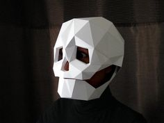 Skull Mask for Halloween - DIY Pattern With Just Paper and Glue! | Halloween Mask | Dia de Los Muertos(Etsy のTetraVariationsより) https://www.etsy.com/jp/listing/211420580/skull-mask-for-halloween-diy-pattern