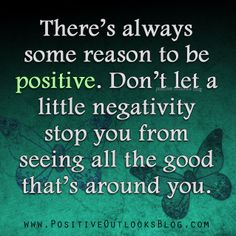 a little negativity