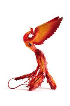 Art handmade by MyCreatures Phoenix Artwork, Phoenix Images, Bird Wallpaper, Original Wallpaper, Phoenix Harry Potter, Phoenix Bird, Bird Statues, Bird Sculpture, Egyptian Art