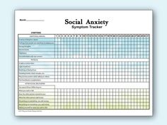 This monthly social anxiety tracker lists: Download Cv Format, Social Anxiety Symptoms, Bullet Journal Mental Health, Psychological Symptoms, Coping Skills, Letter Size, Problem Solving, Printables, Psychology
