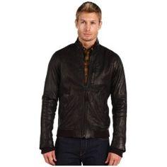 Vince Black Leather Motorcycle Jacket