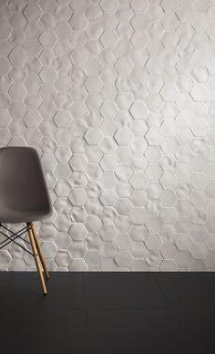 Absolute Selene by Johnson Tiles . love the white, textured tiles Interior Walls, Interior Design, Johnson Tiles, Sofa Workshop, House Tiles, New Wall, My New Room, Kitchen Backsplash, Splashback Tiles