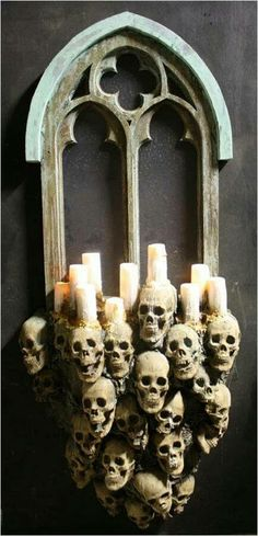 The Gothic Window is a Halloween Decoration offered by the experts at the Horror Dome. Find this and more Halloween Decorations here! Spooky Halloween, Gothic Halloween Decorations, Halloween Designs, Halloween Haunted Houses, Holidays Halloween, Halloween Crafts, Diy Halloween Props, Haunted Diy, Halloween 2018