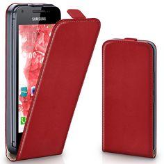 Hülle Cover mit Magnet   Flip Case Etui Handyhülle zum Aufklappen   Handytasche Handy Schutz Bumper Schutzhülle mit Schale in Hellrot