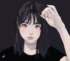 Image uploaded by Find images and videos about girl, anime and drawing on We Heart It - the app to get lost in what you love. Girls Anime, Emo Girls, Art Anime, Anime Art Girl, Manga Girl, Aesthetic Art, Aesthetic Anime, Portrait Art, Portraits
