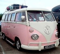 Pretty in pink Days like today have me longing for a pink camper. pack … Pretty in pink Days like today have me longing for a pink camper. turn on the Jack Johnson head north. Happier times in cooler climes. One of these Pink Vw Routan, Vw T1, Vintage Volkswagen Bus, Volkswagen Vehicles, Volkswagen Bus Interior, Volkswagen Beetles, Wolkswagen Van, Pretty In Pink, Perfect Pink