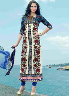 Elegant and #Beautiful French #Crepe Print #Salwar #Suit with ...
