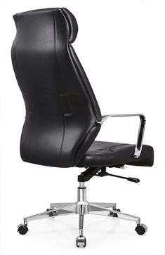 Deauville Swivel Black PU Leather Executive Managerial Office Computer Chair - China Foshan Staff Office Chair & Computer Seating Factory
