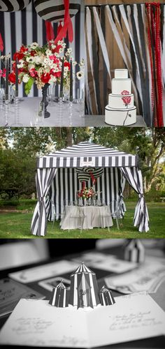 Idea, decorate a open standing tent for a dancer entrance for a dance show.