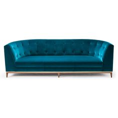 Amy Somerville of London Talay Three Seat Sofa - American Blk Walnut & Brushed Brass COM - 18 yds.