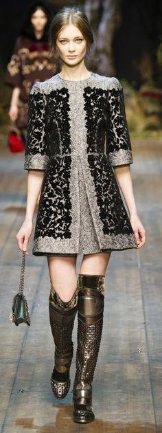 O inverno da Dolce Gabbana na Semana de Moda de Milão