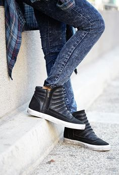 Futuristic Sneakers   FOREVER21 Fresh kicks #Leather #OMGF21Shoes #Sneakers