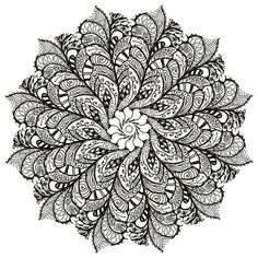 Ru / фото - мандалы - mandala patterns and des Mandala Doodle, Doodles Zentangles, Zen Doodle, Zentangle Patterns, Mandala Art, Doodle Art, Mandala Coloring, Colouring Pages, Adult Coloring Pages