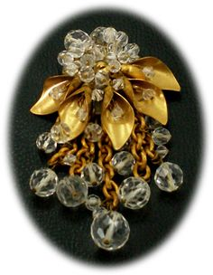 Vintage Miriam Haskell crystal pin