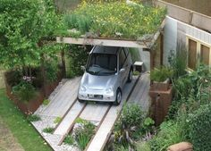 Green Roof & Rain Garden by Wendy Allen Designs While age-old with notion, the pergola Patio Pergola, Rustic Pergola, Modern Pergola, Deck With Pergola, Pergola Kits, Backyard, Modern Fence, Pergola Ideas, Rain Garden