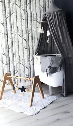 Scandi Nursery inspiration with our heirloom quality, safety certified, wooden play gym.