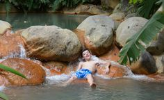 Pools heated by Mother Nature at The Springs in Arenal in Costa Rica are fantastic