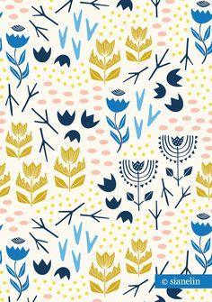 Desert Fleur Wallpaper - Multi