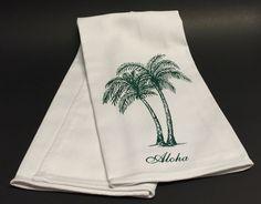 Original Design 100% Cotton Palm Tree Aloha Tea Towel