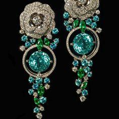 """Chanel Camélia #Aquatique earrings #chanel #diamonds #jewelry #precious #masterpiece #london #jewellery #beautiful #gorgeous #bahrain #dream #love…"""