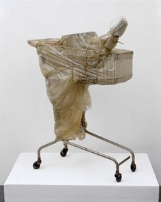 Christo and Jeanne-Claude (born Title: Packed Supermarket Cart, 1963 Medium: Installation, Performance, mixed media Size: 105 x 78 x 42 cm. Christo Et Jeanne Claude, Art Conceptual, Found Art, A Level Art, Gcse Art, Art Plastique, Installation Art, Art History, Sculpture Art