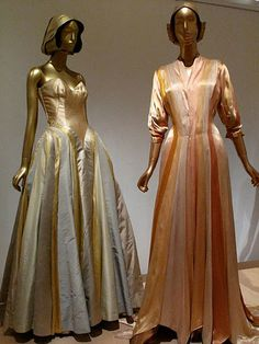 Charles James Gown, 1947, and Dressing Gown, 1944