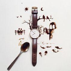 Sanatlı Bi Blog Bir Fincan Kahve, Kaşık ve Birbirinden Güzel 25 Sanat Eseri - Giulia Bernardelli 13