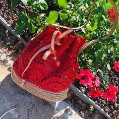 Kağıt ipten el örgüsü çanta içi astarlı deri saplı Straw Bag, Fashion, Moda, Fasion, Trendy Fashion, La Mode