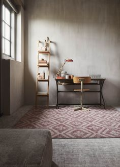 Desso & Ex unique home flooring concept in combined patchwork and concrete – colour Bohemian Red/IndustrialGrey Concrete Color, Unique Flooring, Boho Home, Minimalist Home, Home Collections, Home Living Room, Decoration, Entryway Tables, Minimalism