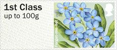 1st, Forget-Me-Not from Post & Go: Symbolic Flowers - British Flora 2 (2014)