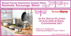 Win a 14 Piece Gold-Plated Stainless Steel Cookware Set Ends 10/20