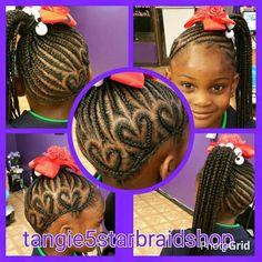 Braids, ponytails & hearts