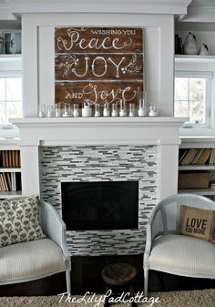 fireplace surround minus the glass tile