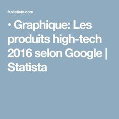 •  Graphique: Les produits high-tech 2016 selon Google | Statista