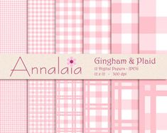 pink and white gingham  plaid