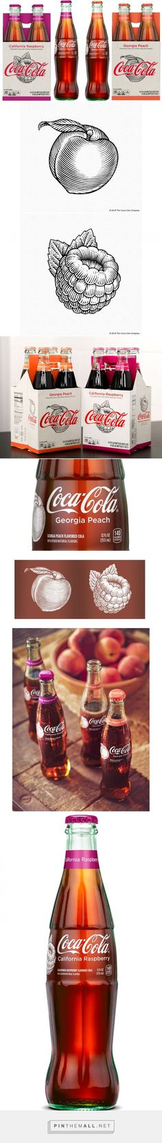Coca-Cola Packaging Illustrations by Steven Noble on Behance... - a grouped images picture - Pin Them All