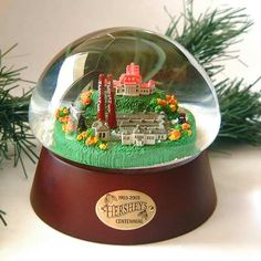 Snowglobe commemorating Hershey's 100th anniversary.