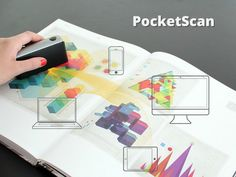 The PocketScan is an ingenious handheld device that scans anything on the fly with clean and sharp results.