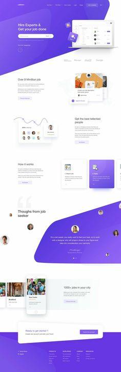 job post design template, web design, landing page design Design Sites, Web Ui Design, Web Design Trends, Modern Web Design, Design Design, Logo Design, Web Layout, Layout Design, Website Design Inspiration