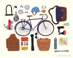 Cycling Print by smalladventure on Etsy