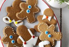 No holiday treat platter would be complete without gingerbread man cookies! This is a tried-and-true recipe I'm happy to share with you. Christmas Treats, Holiday Treats, Christmas Cookies, Holiday Baking, Christmas Baking, Gingerbread Man Cookie Recipe, Gingerbread Men, Taste Of Home, Home Recipes
