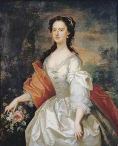 Portrait of a Woman in White by John Vanderbank    Date painted: 1738