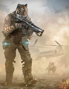 ArtStation - Tiger desert troop, Alejandro Gonzalez Agudelo