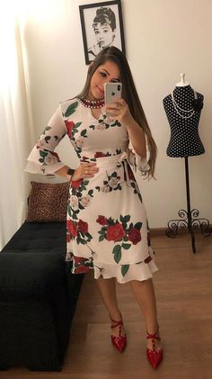 Trendy Ideas For Moda Evangelica Vestidos Tubinho Modest Dresses, Elegant Dresses, Cute Dresses, Beautiful Dresses, Casual Dresses, Short Dresses, Summer Dresses, African Fashion Dresses, African Dress
