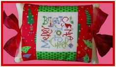 Christmas Expressions Pillow - Cross Stitch Kit